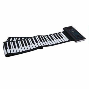 Roll Up Piano Clavier de silicium souple Piano Pliable 88 touches Numérique Electrique Roll Up avec sortie USB MIDI Enregistrement Programmation Tutoriel de lecture Sustain Fonctions Vibrato Haut-parl