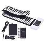 Roll Up Piano Clavier électrique numérique Roll Up Piano pliable 88 touches épaissies Silicium souple et flexible avec enregistrement Programmation Tutoriel de lecture Maintien des fonctions Vibrato S