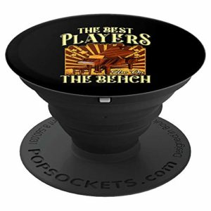 The Best Players Are On The Bench Pianist Pun PopSockets Support et Grip pour Smartphones et Tablettes
