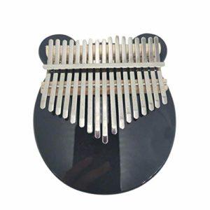 ABMBERTK Piano à Pouce en Acrylique à 17 Touches, Instrument de Musique à Clavier à Doigt, avec boîte de Marteau d'accord, Noir