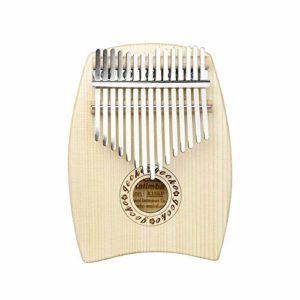 ABMBERTK Piano à Pouce Kalimba 15 Touches, Instrument de Musique à Clavier Mbira, pour Musicien débutant, Couleur Bois