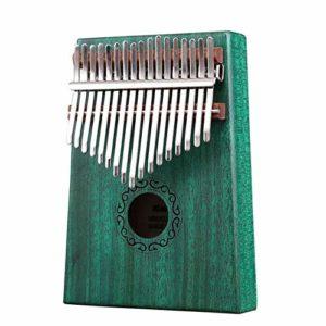 ABMBERTK Piano à Pouce Kalimba à 17 Touches, Instrument à Clavier à Percussion à Doigts, Vert