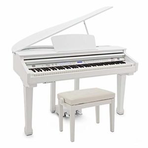 GDP-100 Piano à Queue Numérique avec Siège par Gear4music blanc brillant