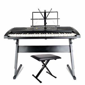 MELLRO Pianos numériques Piano en Forme de Z en métal épais Tabouret Peut être personnalisé à la Pratique Simple Stand Electronic Piano Double CONTREVENTÉES JambesPianos numériques