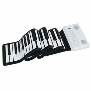 NEHARO Instrument de Musique électronique portabl 88 Notes Folding électronique Souple Piano Pratique Double TrumpetHand laminé Piano Piano électronique (Color : White, Size : 135.5x20cm)