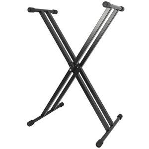 Rocket KXS02 Support Clavier réglable Double embase Forme X Noir
