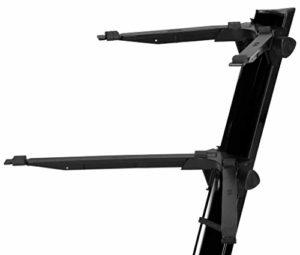 Stay Slim Support pour clavier 2 niveaux Niveau supérieur incurvé Noir