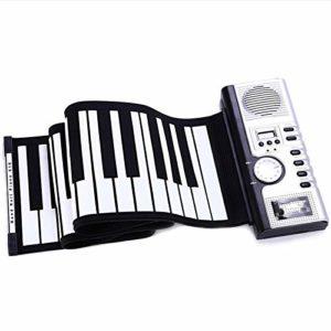 xiaoxioaguo Clavier roulant portable 61 touches souple en silicone MIDI numérique souple clavier piano électronique flexible