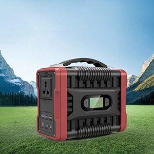 ZXWNB Centrale Électrique Portable 222 Wh Générateur Solaire 200W (Peak 320W) Batterie De Secours AC Prise QC3.0 USB 2 Ports DC Lampe De Poche LED pour Camping d'urgence À La Maison